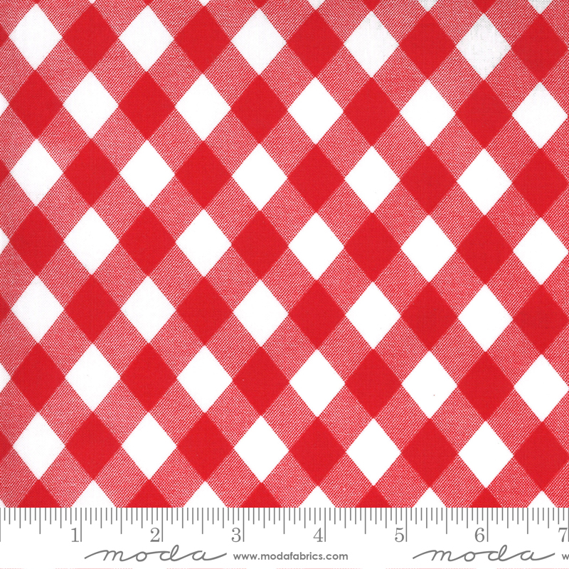 Sunday Stroll (ROT Coated) Red Gingham