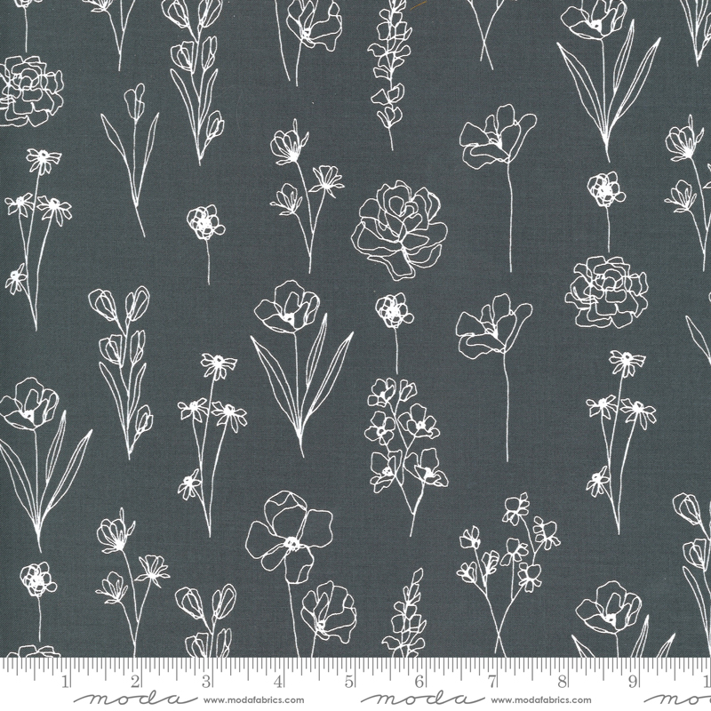 Illustrations - Floral Doodle - Graphite