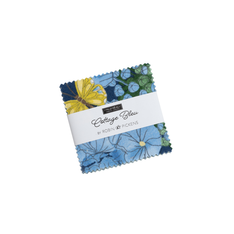 Cottage Bleu Mini Charm (42 Pieces) - Robin Pickens - Moda