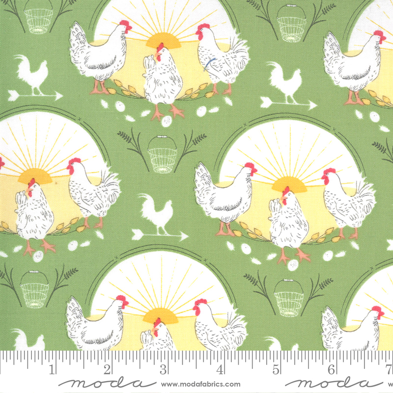 43100 16 Break Of Day - Greet the Day Novelty Chickens in Meadow by Sweetfire Road