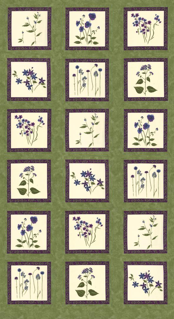 Violet Hill 24 x 44 Panel Celery