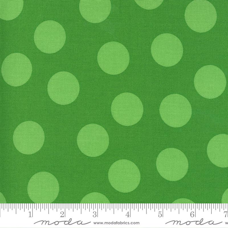 Merry and Bright Tonal Ever Green Polka Dots 22405 22