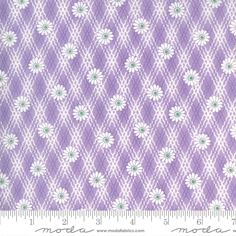 30s Playtime Lilac Plaid Floral