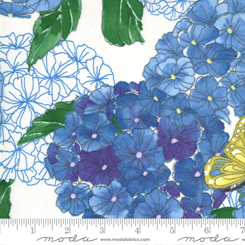 Cottage Bleu Lg Floral Cream