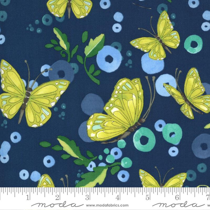 Cottage Bleu Midnight Butterflies