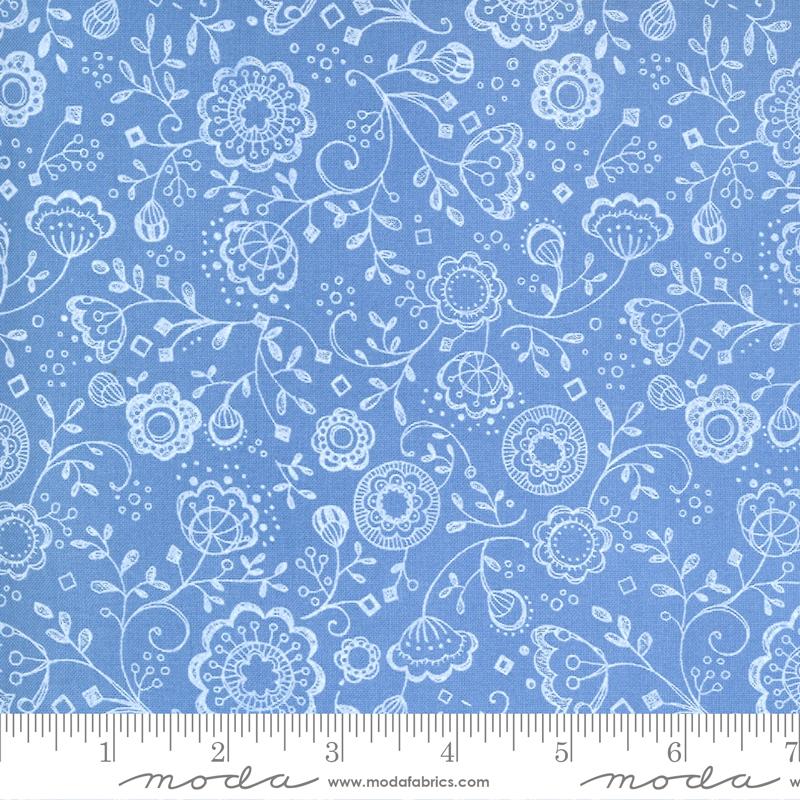Cottage Bleu Sky Floral