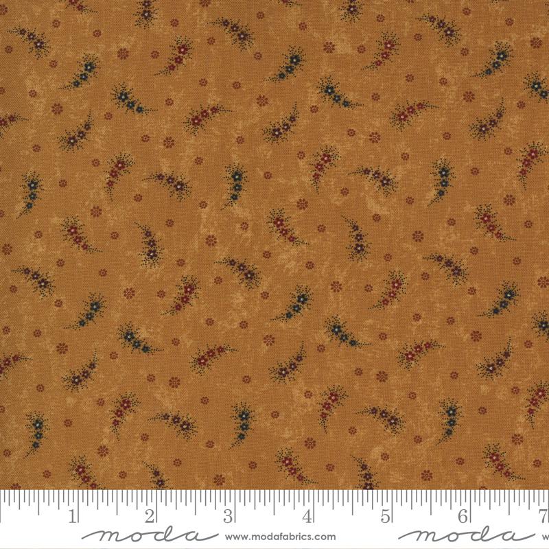 Fabric-Moda KT Prairie Dreams Paisley on Gold