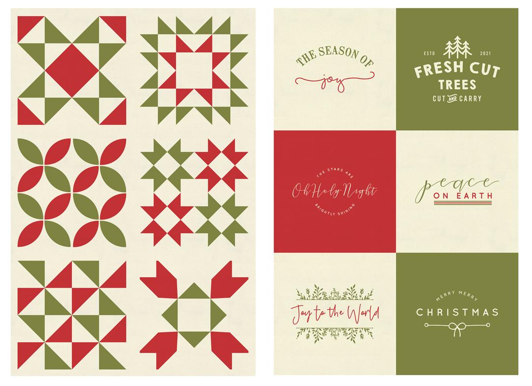 Red Barn Christmas Panel Multi Kit