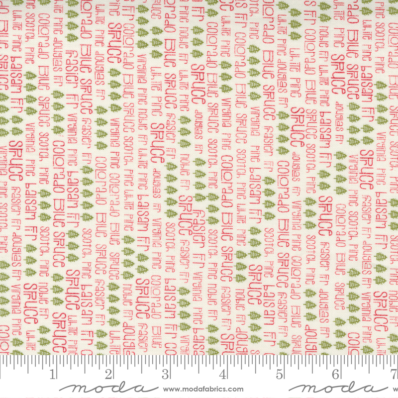 55531 34 Red Barn Christmas Vanilla Multi