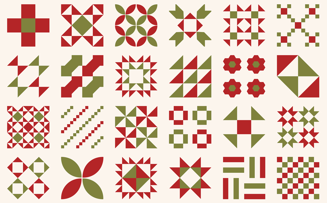 Red Barn Christmas Vanilla Mult Convenience cloth