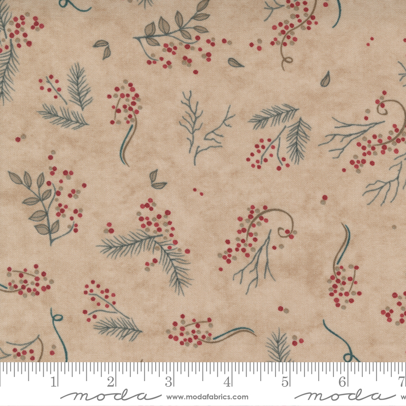 Berry Branches Fat Quarter - Antler Warm Winter Wishes Collection from Moda Fabrics