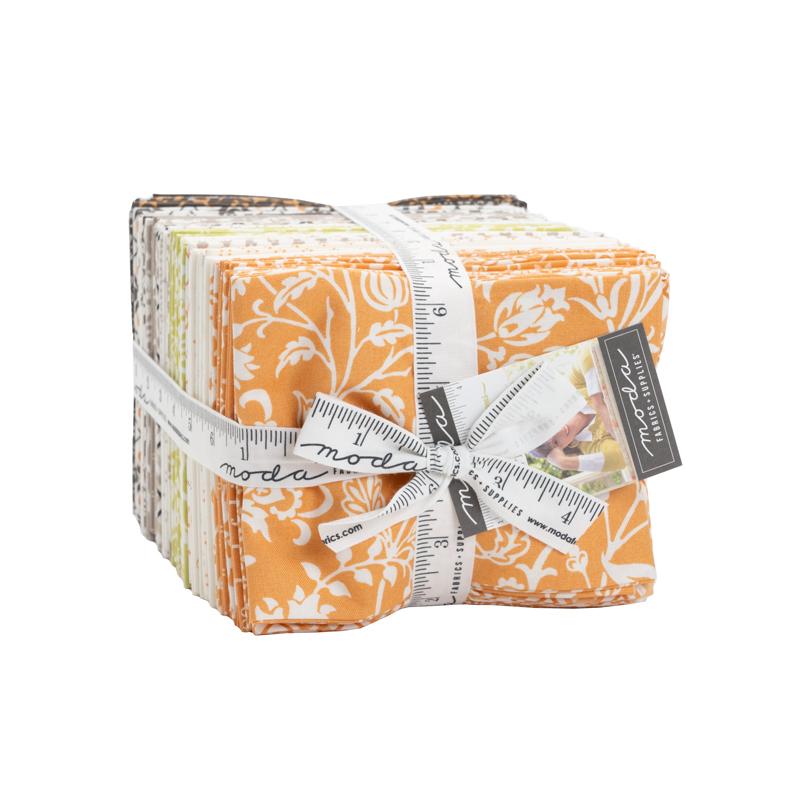 Pumpkins & Blossoms Fat Quarter Bundle by Fig Tree for Moda 20420AB