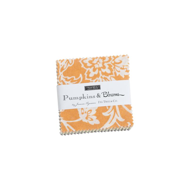 Pumpkins & Blossoms Mini Charm by Fig Tree for Moda 20420MC