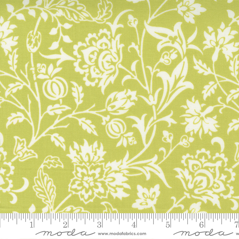 Pumpkins and Blossoms - Vine Damask Sprout
