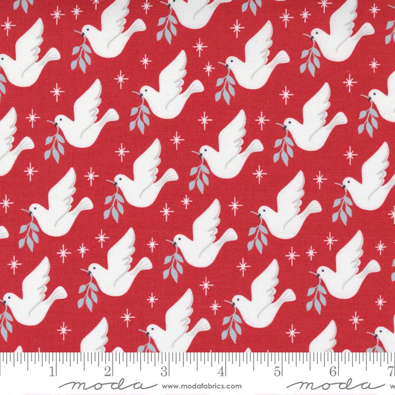 Moda Christmas Morning Cranberry 5141 16