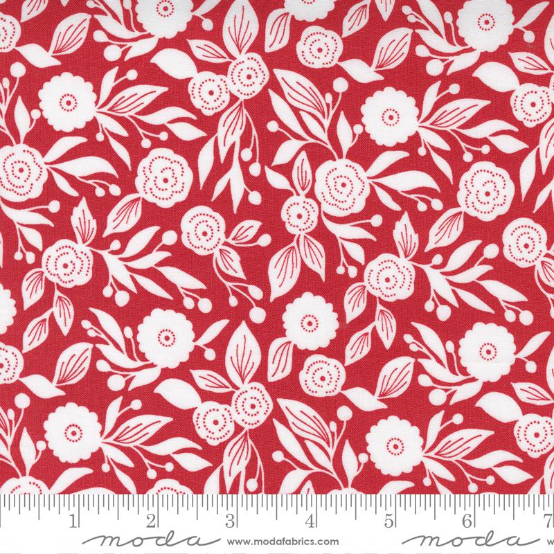 Christmas Morning : Cranberry Winter Flora - #5143-16 - Lella Boutique