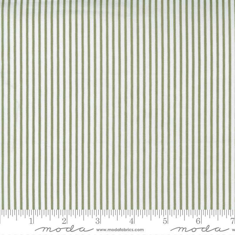 Christmas Morning : Pine Yuletide Stripe - #5148-15 - Lella Boutique