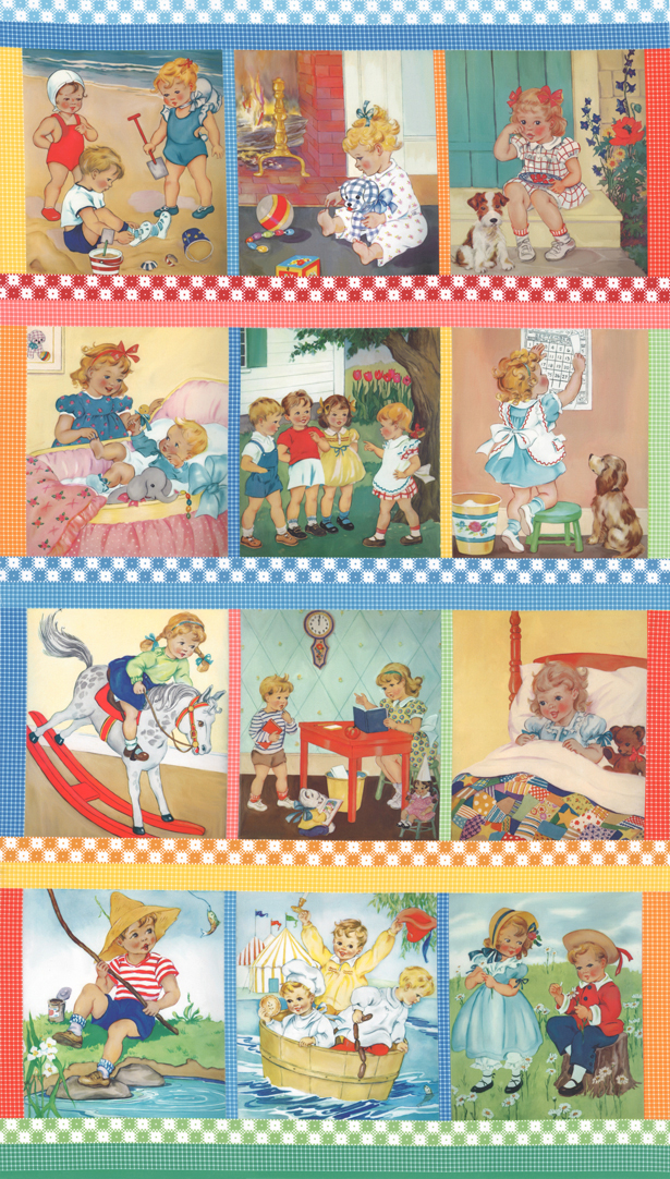Story Time 21790-11 Panel 24 x 44 Multi