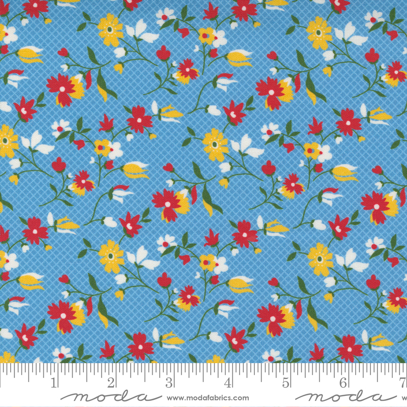 PRE-ORDER Story Time 21793-17 Playful Daisy Blue
