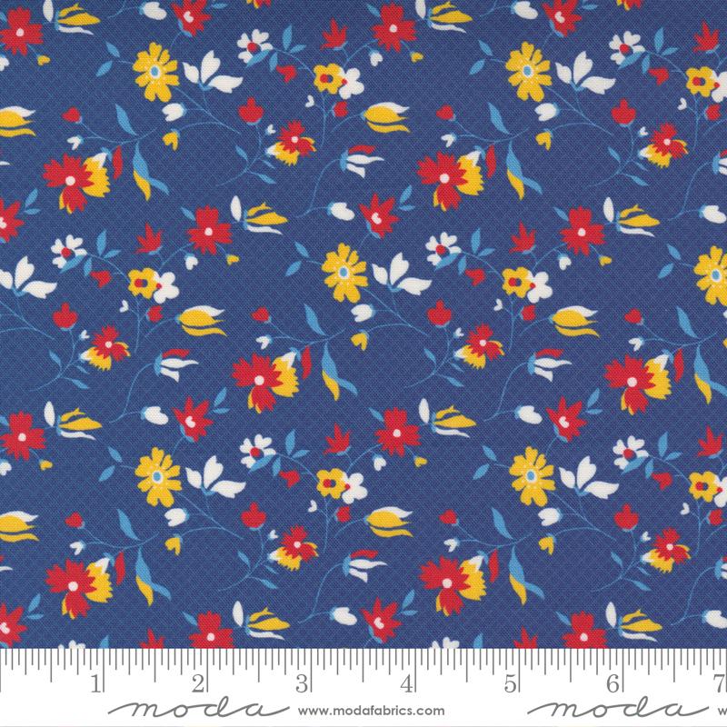 Story Time Playful Daisy - Navy (21793 18)