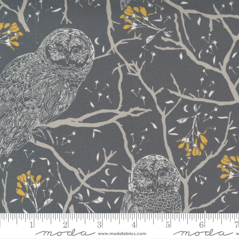 Through The Woods Owls on Charcoal