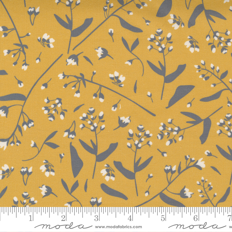 Through The Woods Foraged Floral Golden Yellow