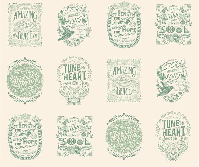 Songbook - Mini Panel Hymn Text Christian Bible Religious Panel 24 x 44 - Dove/Glory Skies