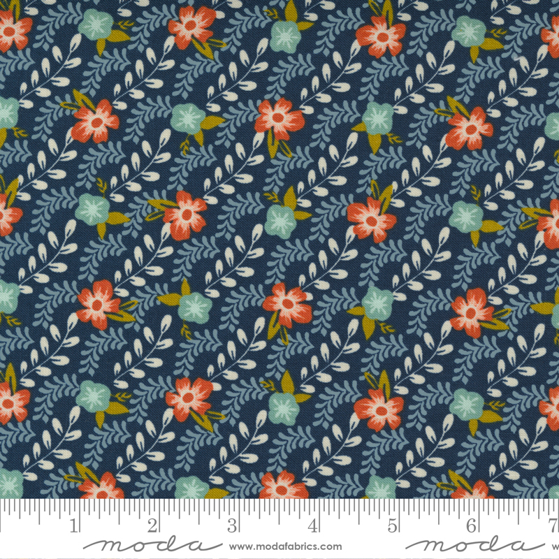 Songbook Midnight Trellis Climb Floral Stripe Bias Stripe Garland Scallop