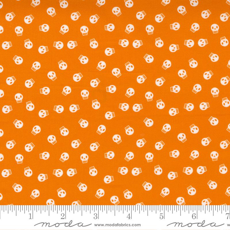 Holiday Halloween Skulls Cotton - Orange