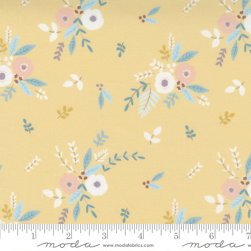Little Ducklings by Paper and Cloth - Bouquet - Mustard - Moda 25101 16