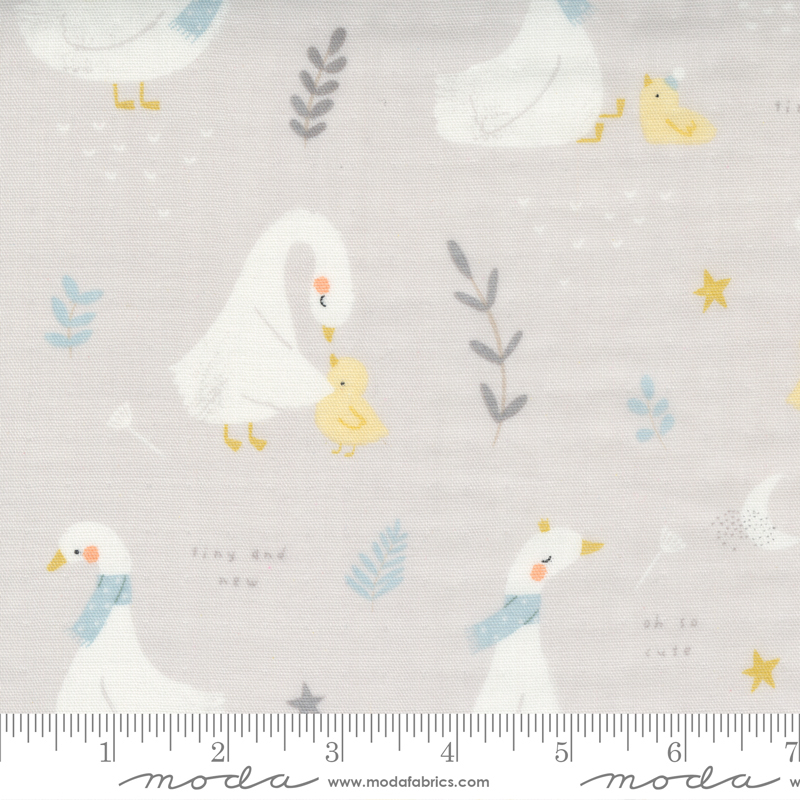 60 Little Ducklings Gauze Grey 60 wide