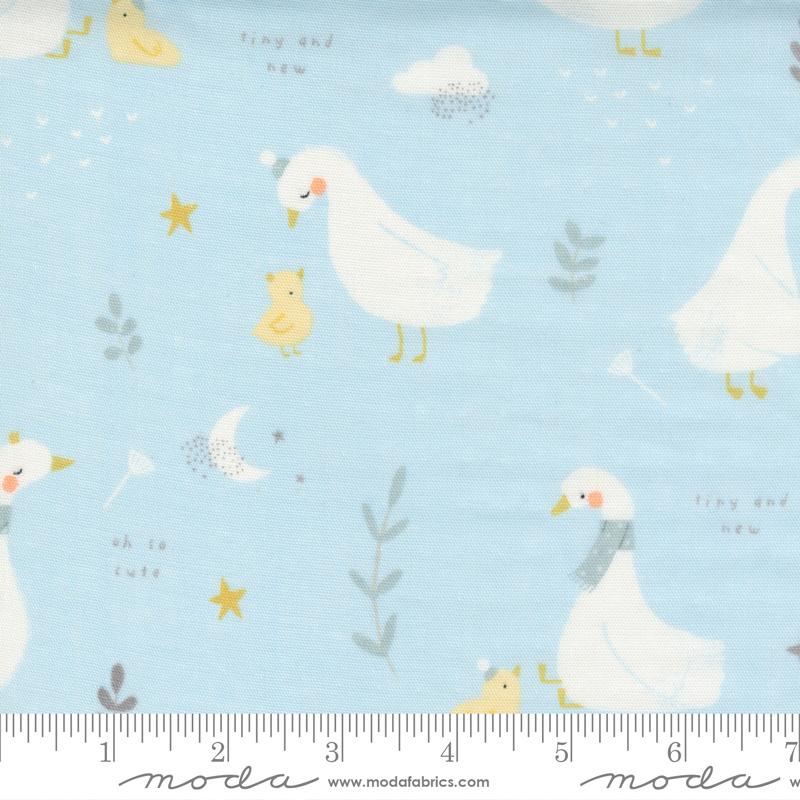 Little Ducklings Gauze Blue 25100 15DG
