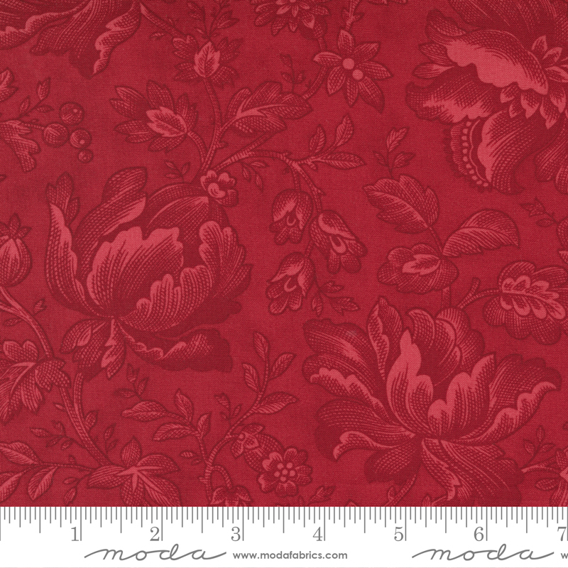 Cranberries and Cream - Cinnamon Floral Berry Toile
