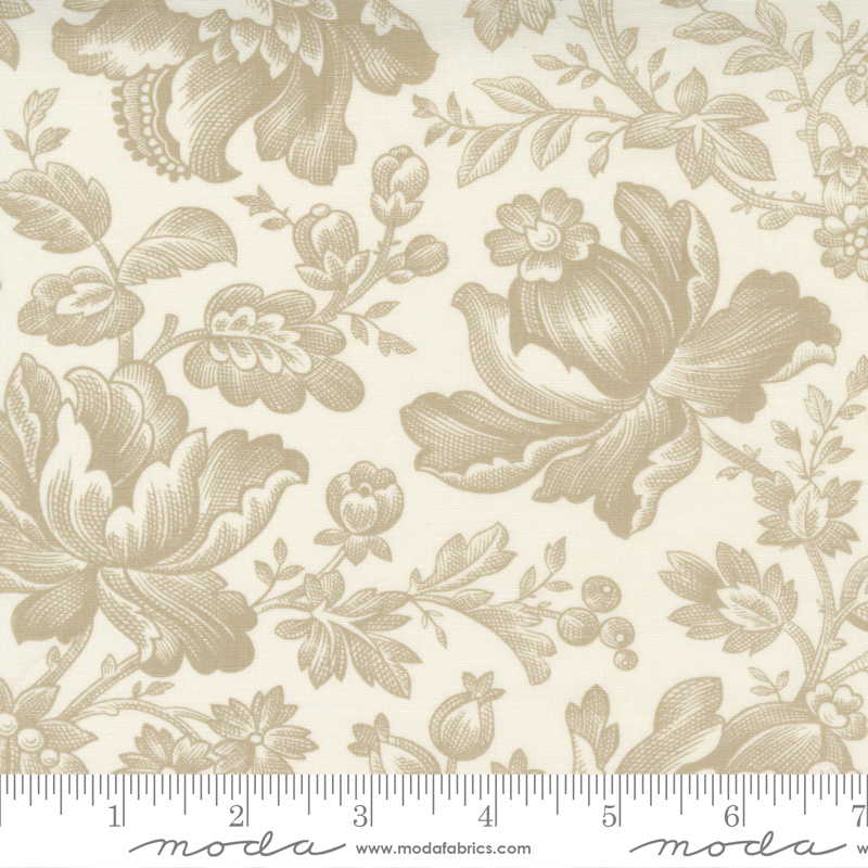 Cranberries and Cream - Cream Floral Berry Toile