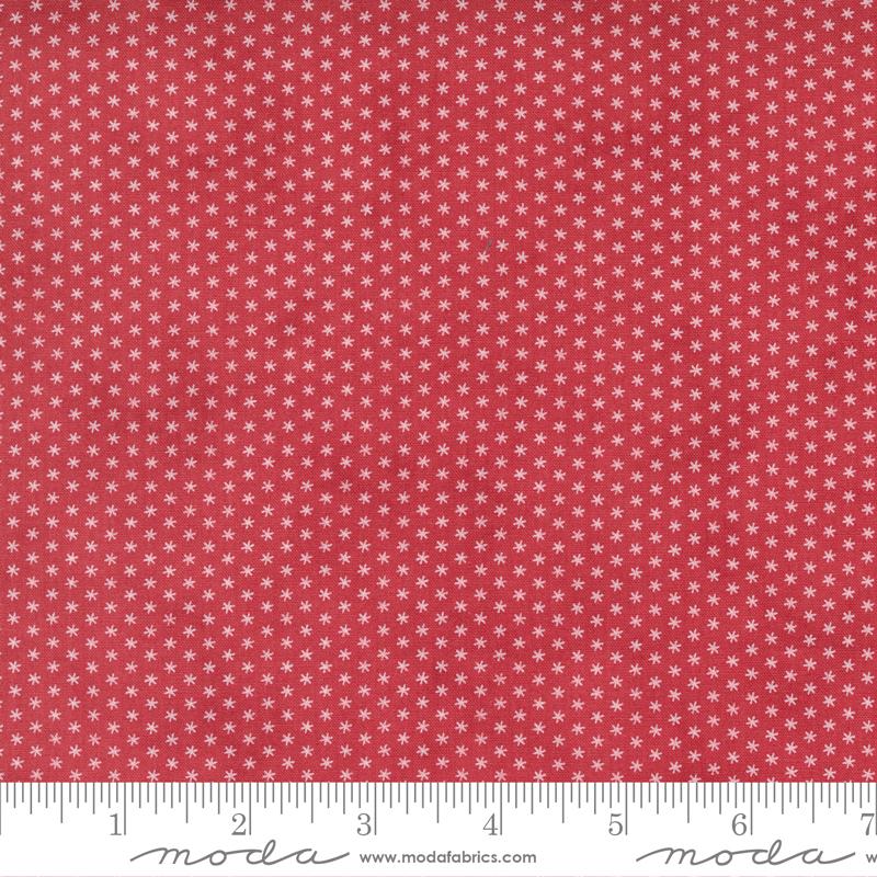 Sprinkles Snowflakes Cranberry<br/>Moda 44268-11