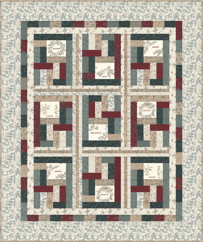 Warm Winter Wishes Quilt Kit by Holly Taylor for Moda KIT6830