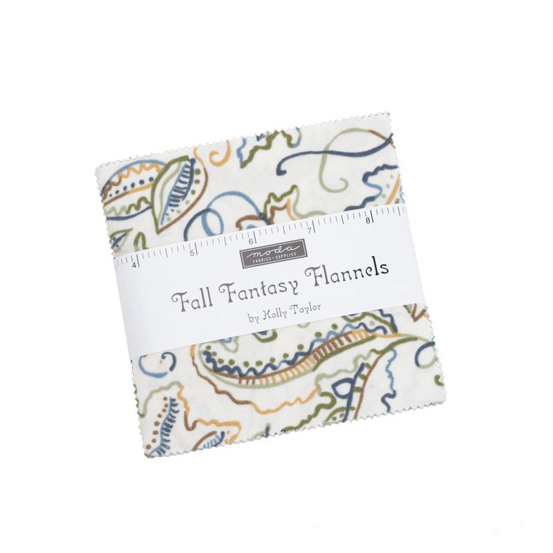 Fall Fantasy Flan Charm Pack (42 Pieces) - Holly Taylor - Moda