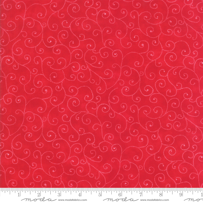 Marble Swirls Christmas Red