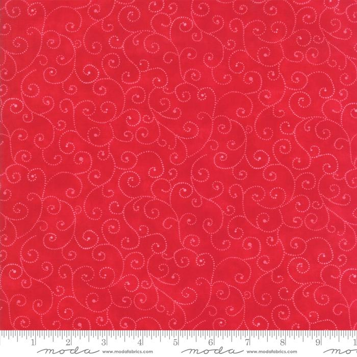 Moda - Marble Swirls Christmas Red