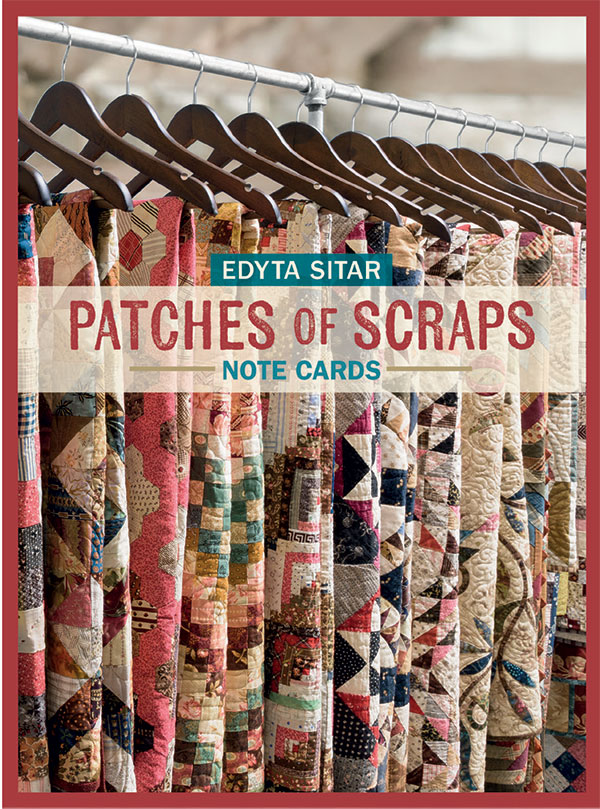 Patches Of Scraps Notecards by Edyta Sitar