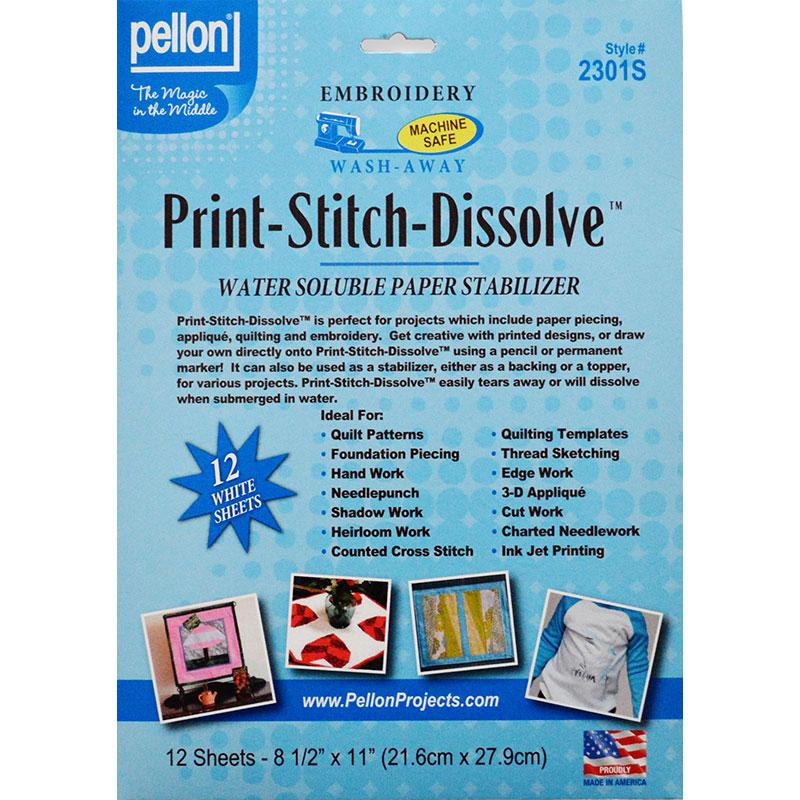 Print Stitch Dissolve Shet 12ct