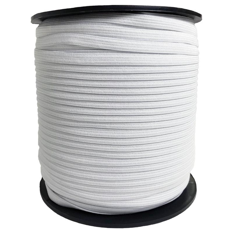 Knit Elastic 1/4 White BTY