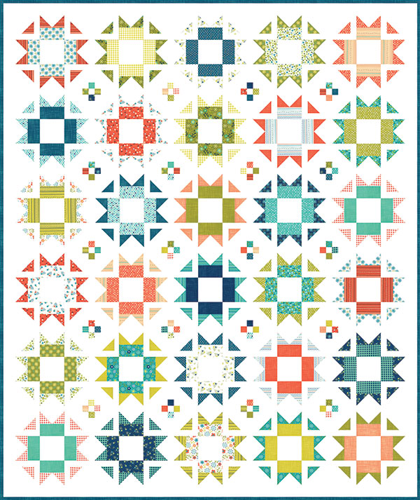 Well Said Happy Quilt Pattern designed by Sandy Gervais for Moda, 68 x 81