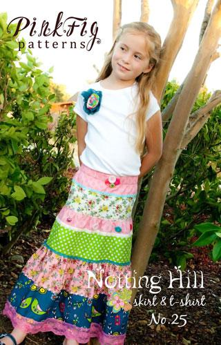 The Notting Hill Skirt and T-S - Pink Fig