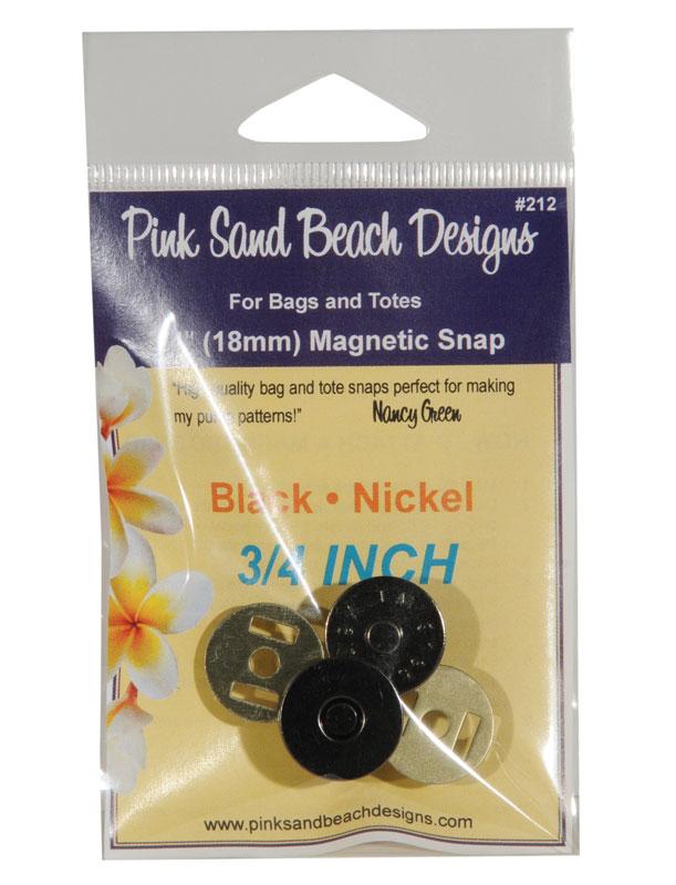 3/4 Magnetic Snap Black