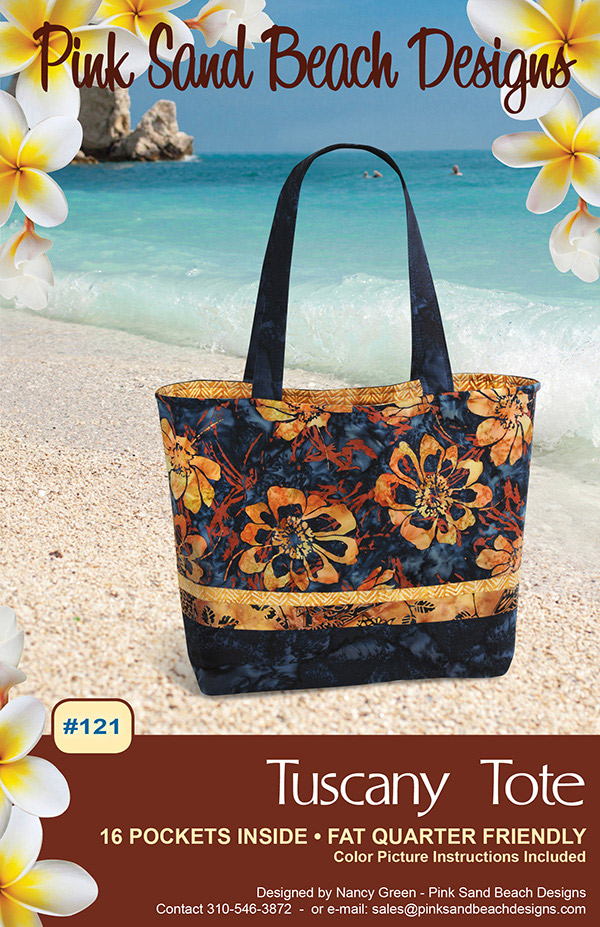 Tuscany Tote - Pink Sand Beach Designs - PSB121