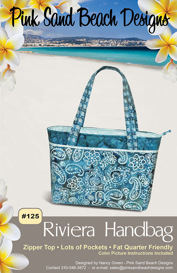 Riviera Handbag - Pink Beach Designs - PBS125