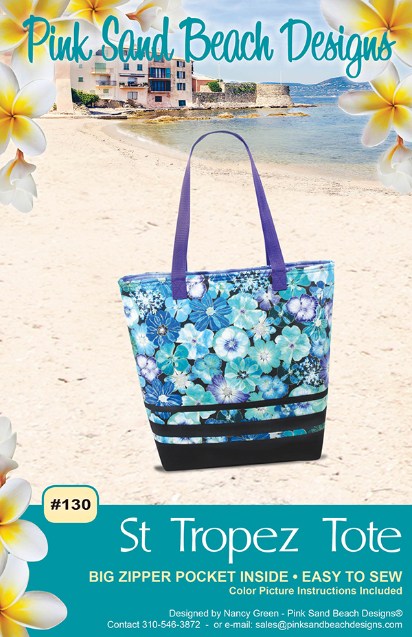 Pink Sands Beach St Tropez Tote