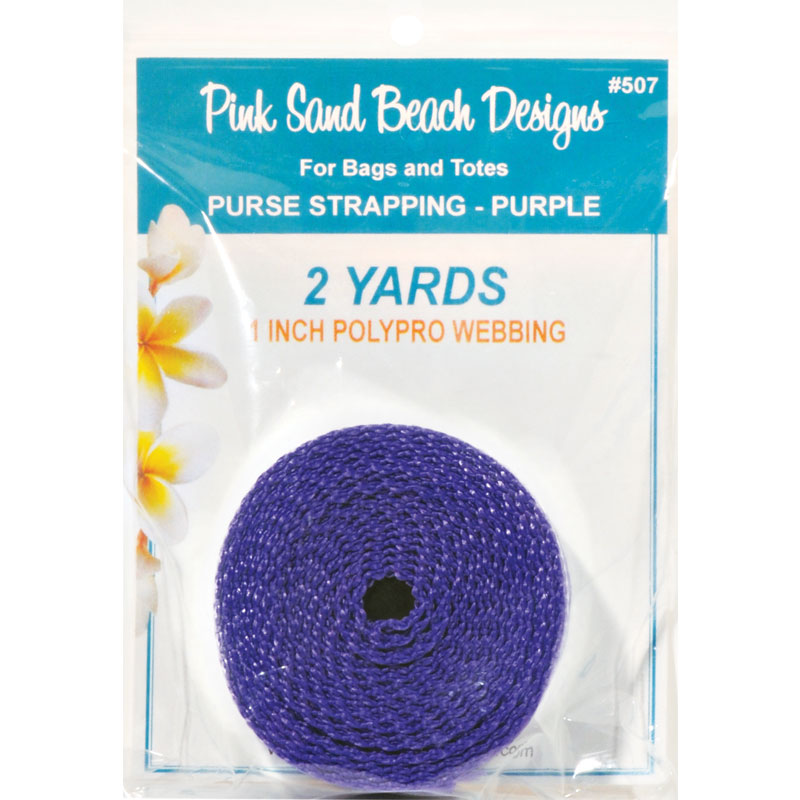 Purse Strapping, 1 x 2yd Purple, by Pink Sand Beach Designs