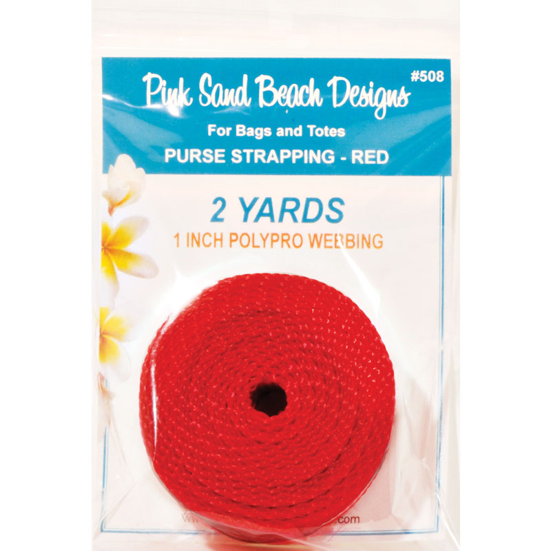 Purse Strapping 1 x 2yd Red